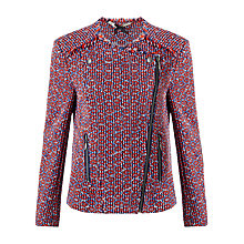Buy Jigsaw Tribal Linton Tweed Jacket, Blue Online at johnlewis.com