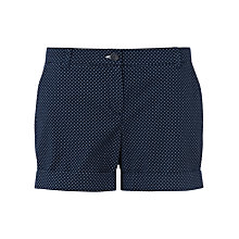 Buy Jigsaw Polka Dot Shorts, Navy Online at johnlewis.com