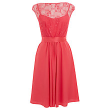 Buy Coast Lori Lee Lace Short Dress, Pink Online at johnlewis.com