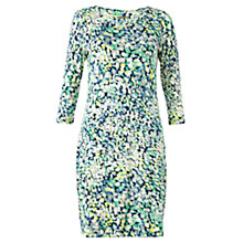 Buy Jigsaw Rose Petal Print T-Shirt Dress, Green Online at johnlewis.com
