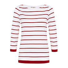 Buy Hobbs Millie T-Shirt, Sienna White Online at johnlewis.com