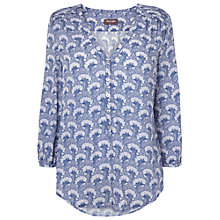 Buy Phase Eight Sylvie Tree Print Blouse, Pale Blue Online at johnlewis.com