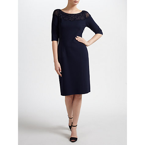 Buy Gina Bacconi Soft Handle Ponti Dress, Navy Online at johnlewis.com