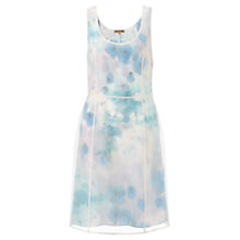 Buy Jigsaw Watercolour Print Organza Dress, Blue Online at johnlewis.com