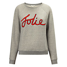 Buy Whistles Jolie Logo Sweatshirt, Grey Online at johnlewis.com