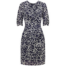 Buy Whistles Crystalised Floral Print Dress, Blue Online at johnlewis.com