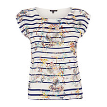 Buy Warehouse Stripe Floral T-Shirt, Multi Online at johnlewis.com
