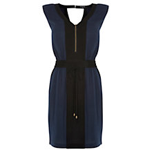 Buy Warehouse Padded Shoulder Dress, Midnight Online at johnlewis.com