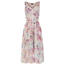 Buy Warehouse Geo Floral Dress, Multi Online at johnlewis.com