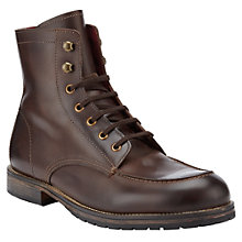 Buy JOHN LEWIS & Co. Buchanan Leather Boots, Brown Online at johnlewis.com