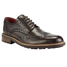 Buy JOHN LEWIS & Co. Berkshire Wingtip Brogue Shoes, Brown Online at johnlewis.com