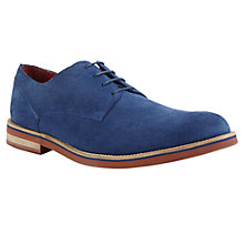 Buy JOHN LEWIS & Co. Dublin Perforated Suede Derby Shoes, Navy Online at johnlewis.com