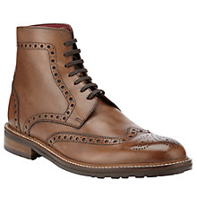 Buy JOHN LEWIS & Co. Durham Leather Brogue Boots, Brown Online at johnlewis.com