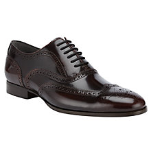 Buy Kin by John Lewis Archie Brush Off Leather Brogue Shoes, Burgundy Online at johnlewis.com