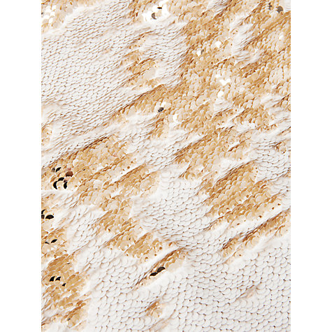 Buy Ted Baker Joleigh Sequin Mini Skirt, Gold Online at johnlewis.com