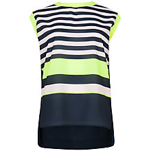 Buy Ted Baker Darlah Candy Stripe Printed Top, Navy Online at johnlewis.com