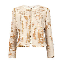 Buy Ted Baker Blubele Sequin Jacket, Gold Online at johnlewis.com