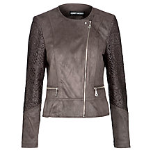 Buy Gerry Weber Faux Suede & Lace Jacket, Nougat Online at johnlewis.com