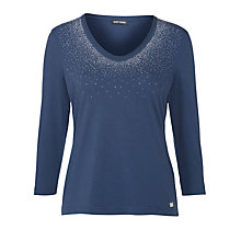 Buy Gerry Weber Sparkle V-neck Top. Indigo Online at johnlewis.com