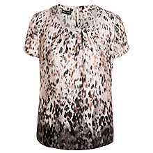 Buy Gerry Weber Print Shell Top, Taupe/Pink Online at johnlewis.com