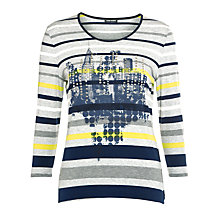 Buy Gerry Weber Stripe Print Top, Blue Hoops Online at johnlewis.com