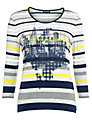 Gerry Weber Stripe Print Top, Blue Hoops