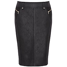 Buy Gerry Weber Faux Leather Pencil Skirt, Black Online at johnlewis.com