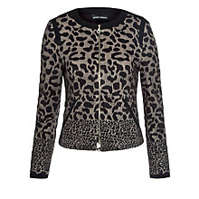 Buy Gerry Weber Leopard Zip Jacket, Black/Ecru Online at johnlewis.com