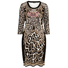 Buy Gerry Weber Print Jersey Dress, Green/Black Online at johnlewis.com