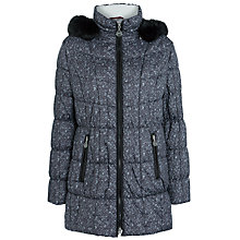 Buy Gerry Weber Faux Fur Hood Print Coat, Grey & Black Online at johnlewis.com