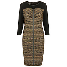 Buy Gerry Weber Stripe Dress, Green/Black Print Online at johnlewis.com