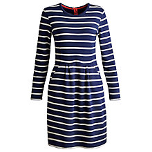 Buy Joules Thurwell Stripe Dress, French Navy Online at johnlewis.com