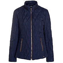 Buy Gerry Weber Zip Through Quilt Jacket, Ink Online at johnlewis.com