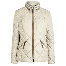 Buy Gerry Weber Trim Quilted Short Jacket, Stone Online at johnlewis.com