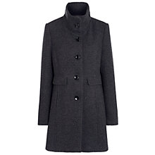 Buy Gerry Weber Wool Funnel Neck Coat, Grey Online at johnlewis.com