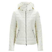 Buy Armani Jeans Quilt Jacket, White Online at johnlewis.com