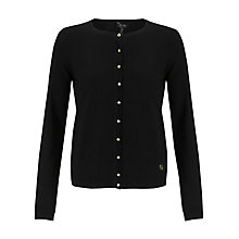 Buy Armani Jeans Gold Button Cardigan, Black Online at johnlewis.com