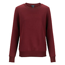 Buy Armani Jeans AJ Logo Sweatshirt, Bordeaux Online at johnlewis.com