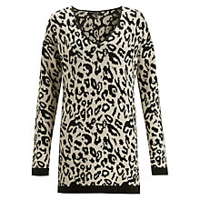 Buy Armani Jeans Leopard Jumper, Brown Online at johnlewis.com