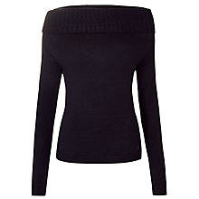 Buy Armani Jeans Cowl Neck Jumper, Navy Online at johnlewis.com