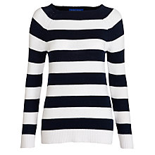 Buy Winser Cotton Stripe Jumper, Midnight & White Online at johnlewis.com