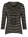 Gerry Weber Stripe Top, Black/Green