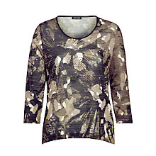 Buy Gerry Weber Print T-shirt, Green/Black Online at johnlewis.com