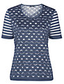 Gerry Weber Spot & Stripe Mesh T-shirt, Blue