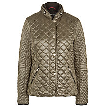Buy Gerry Weber Quilted Jacket, Khaki Online at johnlewis.com