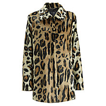 Buy Armani Jeans Leopard Print Faux Fur Jacket, Leopard Online at johnlewis.com