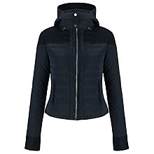 Buy Armani Jeans Hooded Coat, Navy Online at johnlewis.com
