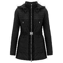 Buy Armani Jeans Hooded Coat, Black Online at johnlewis.com