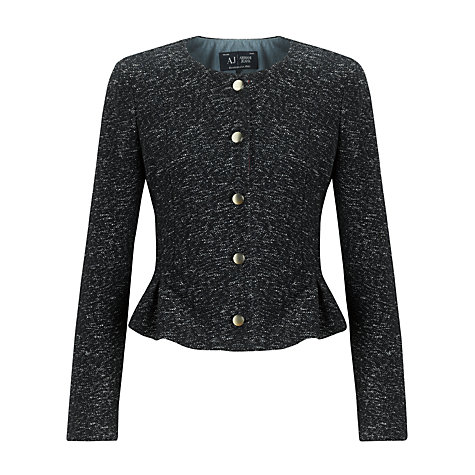 Buy Armani Jeans Tweed Jacket, Navy/Red Online at johnlewis.com