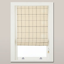 Buy John Lewis Marlborough Check Roman Blind, Cream Online at johnlewis.com